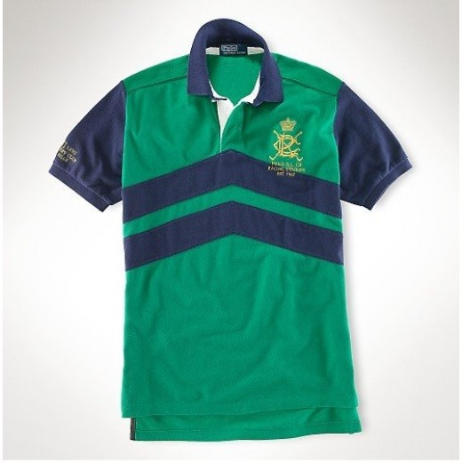 Camisa Polo Verde e Azul Ralph Lauren - Cod 0066